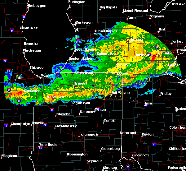 Radar Image for Severe Thunderstorms near Harlan, IN at 6/26/2020 11:43 PM EDT