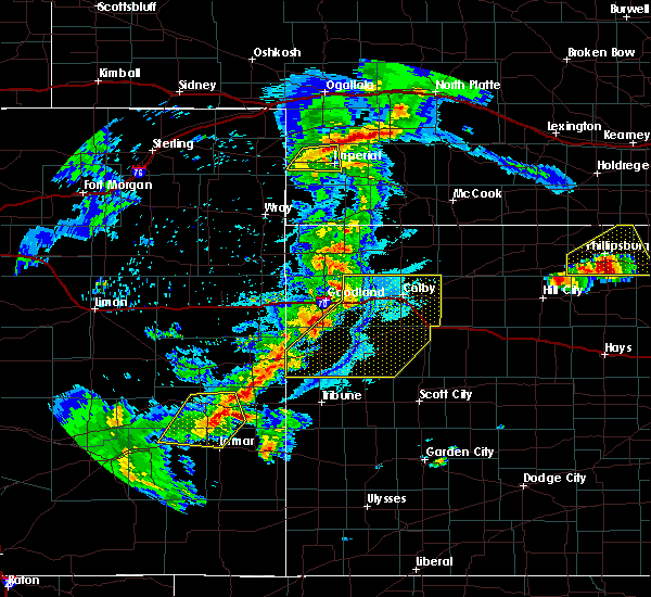 Radar Image for Severe Thunderstorms near Wallace, KS at 6/26/2020 10:44 PM CDT
