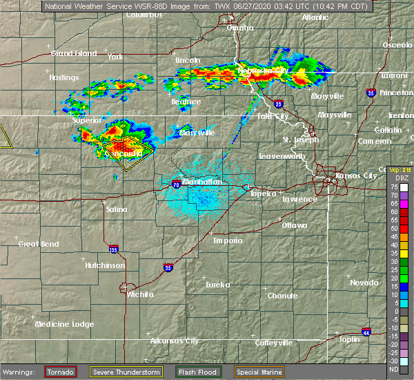 Radar Image for Severe Thunderstorms near Clyde, KS at 6/26/2020 10:47 PM CDT