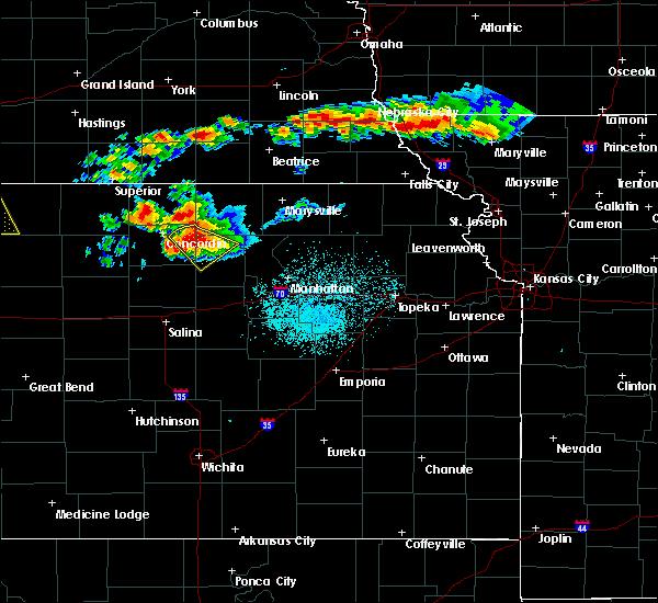 Radar Image for Severe Thunderstorms near Morganville, KS at 6/26/2020 11:02 PM CDT