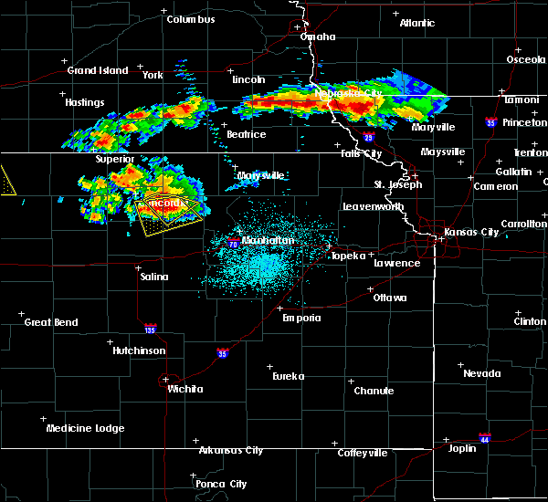 Radar Image for Severe Thunderstorms near Aurora, KS at 6/26/2020 11:11 PM CDT