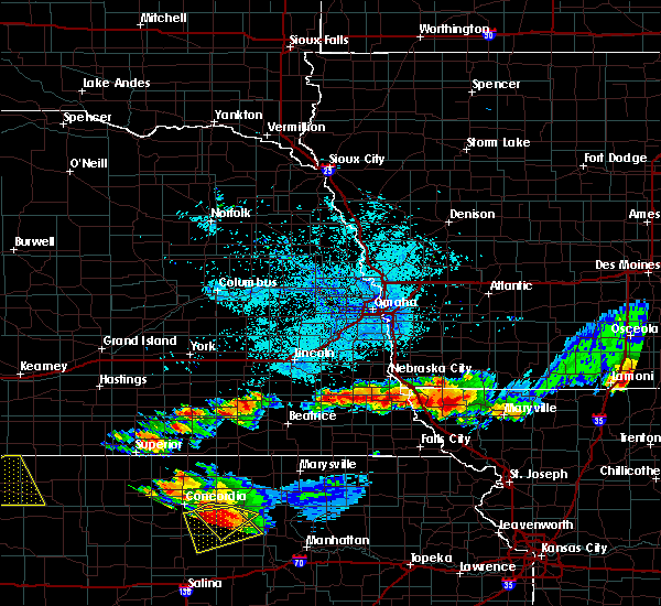 Radar Image for Severe Thunderstorms near Peru, NE at 6/26/2020 11:19 PM CDT