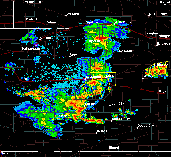 Radar Image for Severe Thunderstorms near Wallace, KS at 6/26/2020 11:20 PM CDT