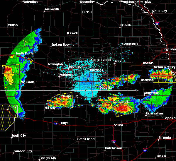 Radar Image for Severe Thunderstorms near Alton, KS at 6/26/2020 11:28 PM CDT