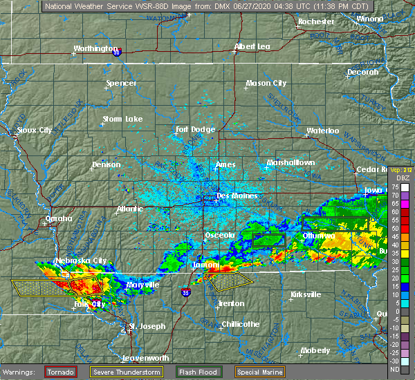 Radar Image for Severe Thunderstorms near South Lineville, MO at 6/26/2020 11:42 PM CDT