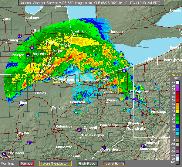 Radar Image for Severe Thunderstorms near Wightmans Grove, OH at 6/27/2020 12:45 AM EDT