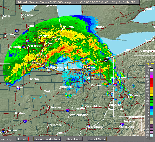 Radar Image for Severe Thunderstorms near South Canal, OH at 6/27/2020 12:49 AM EDT