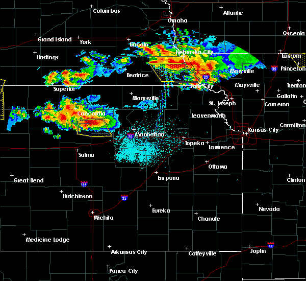 Radar Image for Severe Thunderstorms near Miltonvale, KS at 6/26/2020 11:59 PM CDT