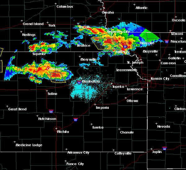 Radar Image for Severe Thunderstorms near Manchester, KS at 6/27/2020 12:12 AM CDT