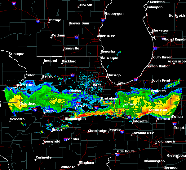 Radar Image for Severe Thunderstorms near Remington, IN at 6/27/2020 12:27 AM CDT