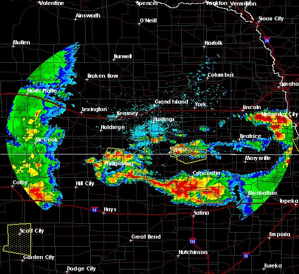 Radar Image for Severe Thunderstorms near Republic, KS at 6/27/2020 12:28 AM CDT