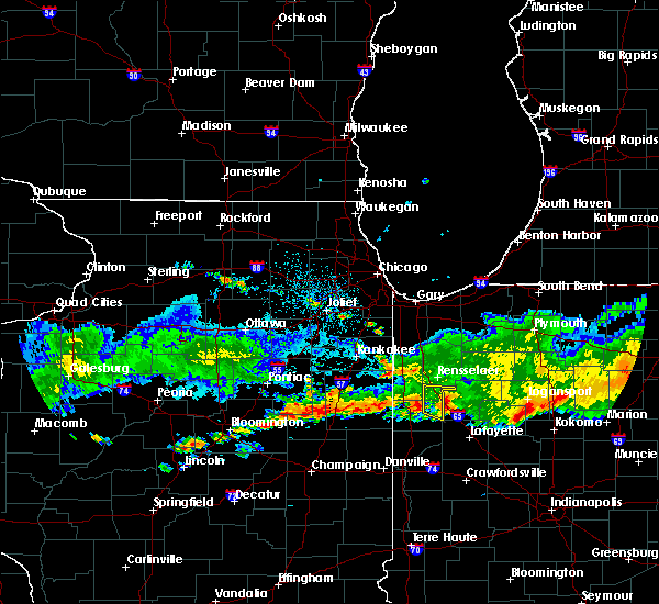 Radar Image for Severe Thunderstorms near Remington, IN at 6/27/2020 12:42 AM CDT
