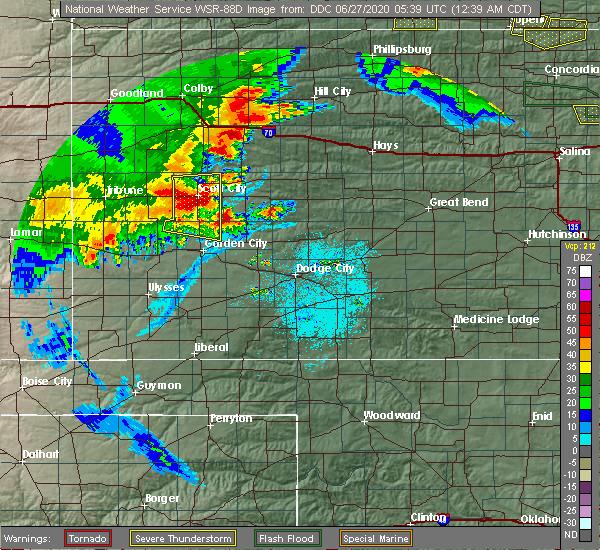 Radar Image for Severe Thunderstorms near Utica, KS at 6/27/2020 12:44 AM CDT