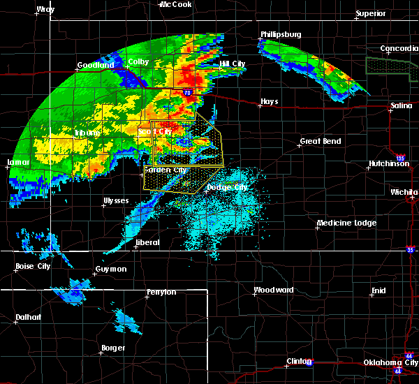 Radar Image for Severe Thunderstorms near Utica, KS at 6/27/2020 1:08 AM CDT