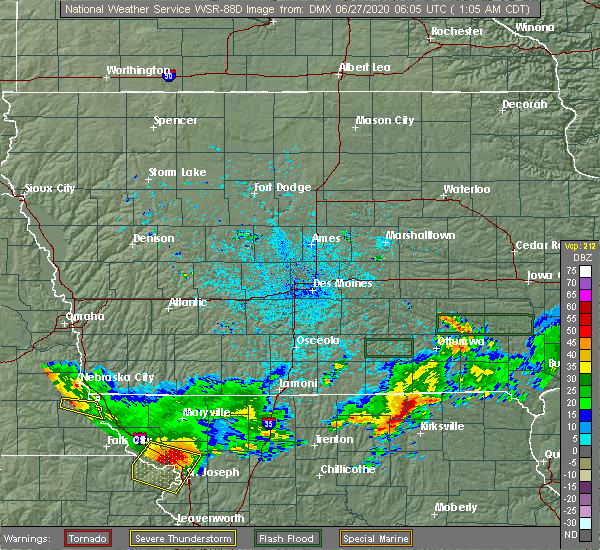 Radar Image for Severe Thunderstorms near Downing, MO at 6/27/2020 1:13 AM CDT
