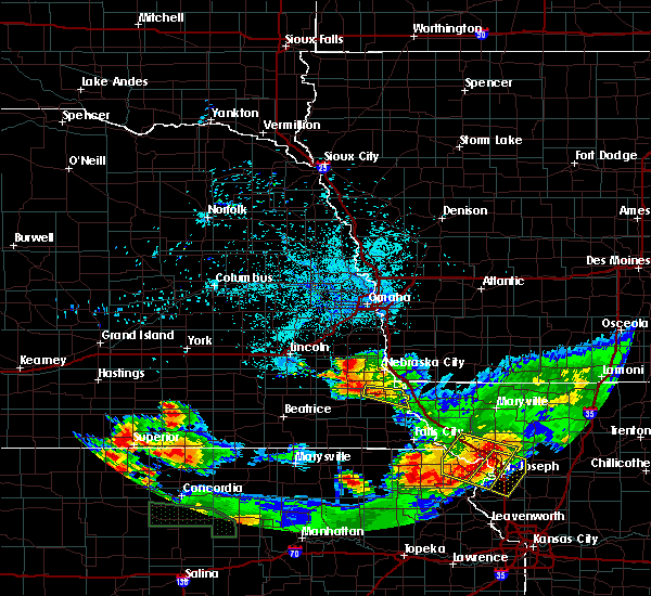 Radar Image for Severe Thunderstorms near Cook, NE at 6/27/2020 1:14 AM CDT
