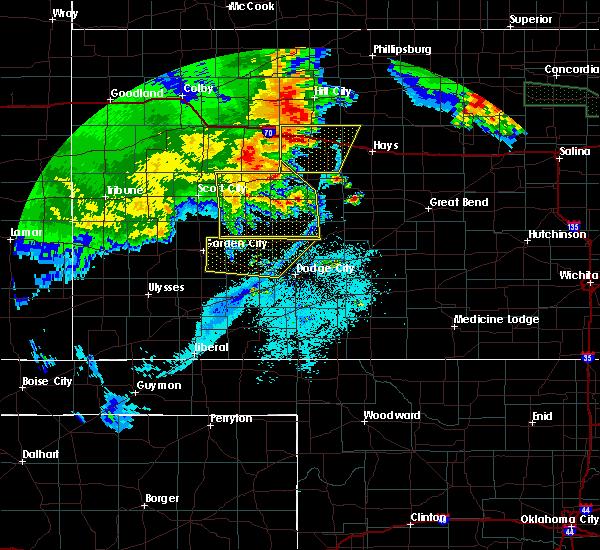 Radar Image for Severe Thunderstorms near Utica, KS at 6/27/2020 1:28 AM CDT