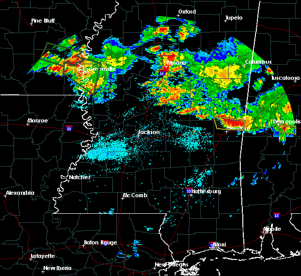 Radar Image for Severe Thunderstorms near Lauderdale, MS at 6/30/2015 6:58 AM CDT
