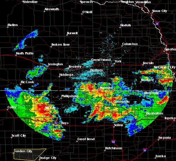 Radar Image for Severe Thunderstorms near Damar, KS at 6/27/2020 1:48 AM CDT