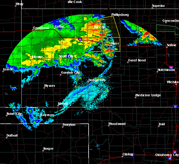 Radar Image for Severe Thunderstorms near Ellis, KS at 6/27/2020 1:50 AM CDT