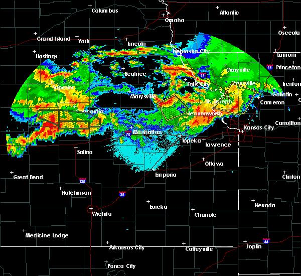 Radar Image for Severe Thunderstorms near Soldier, KS at 6/27/2020 2:11 AM CDT