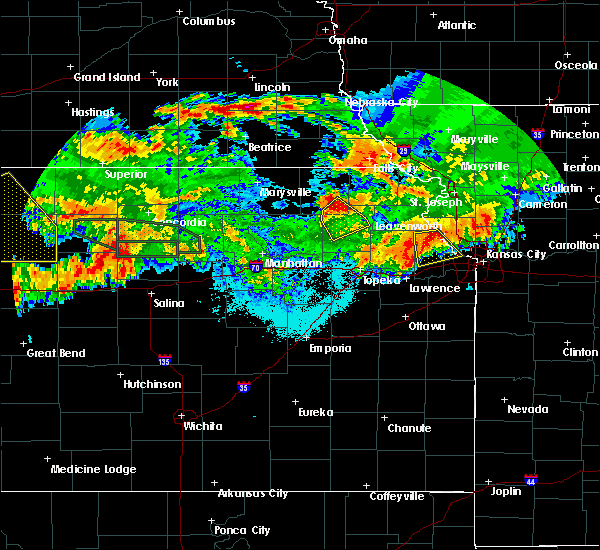 Radar Image for Severe Thunderstorms near Soldier, KS at 6/27/2020 2:32 AM CDT