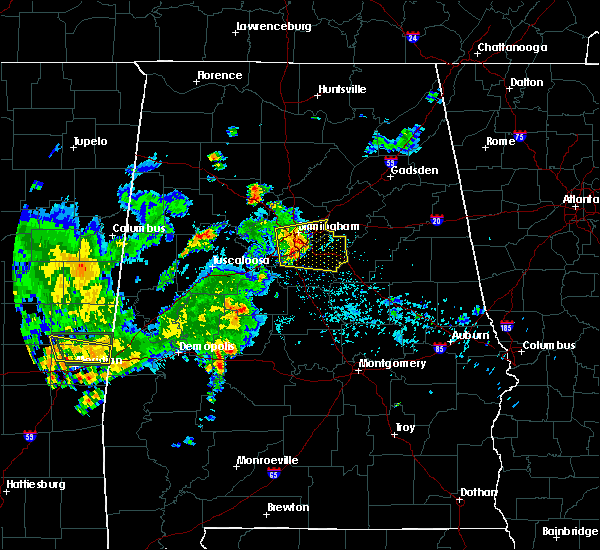 Radar Image for Severe Thunderstorms near Birmingham, AL at 6/30/2015 7:38 AM CDT