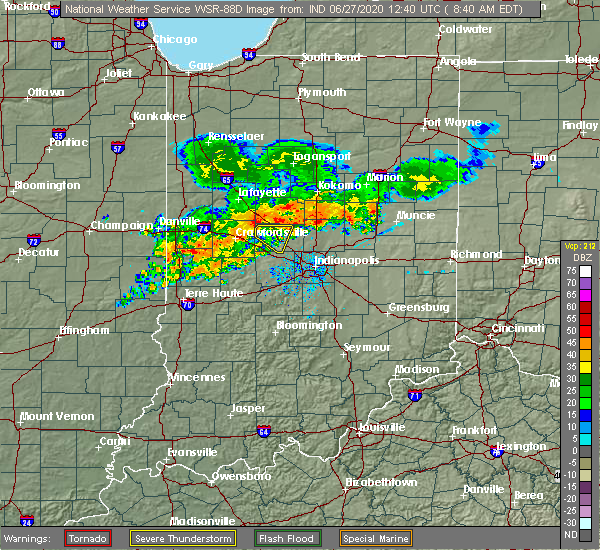 Radar Image for Severe Thunderstorms near Ulen, IN at 6/27/2020 8:42 AM EDT