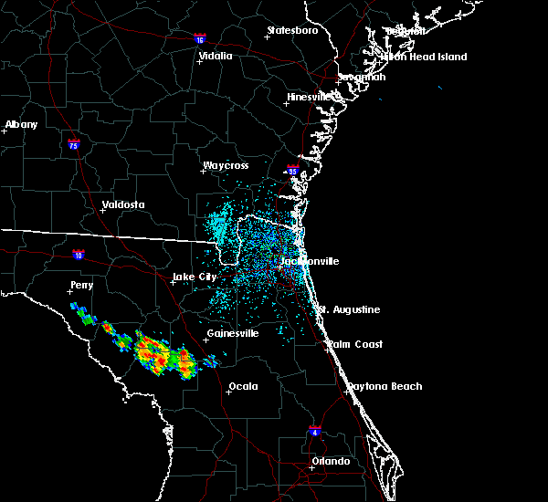 Radar Image for Severe Thunderstorms near Gainesville, FL at 6/27/2020 1:54 PM EDT
