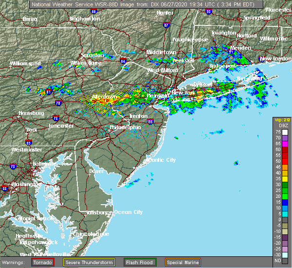Radar Image for Severe Thunderstorms near Fullerton, PA at 6/27/2020 3:40 PM EDT