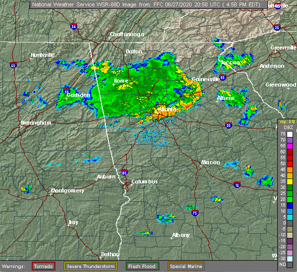 Radar Image for Severe Thunderstorms near Walnut Grove, GA at 6/27/2020 5:03 PM EDT