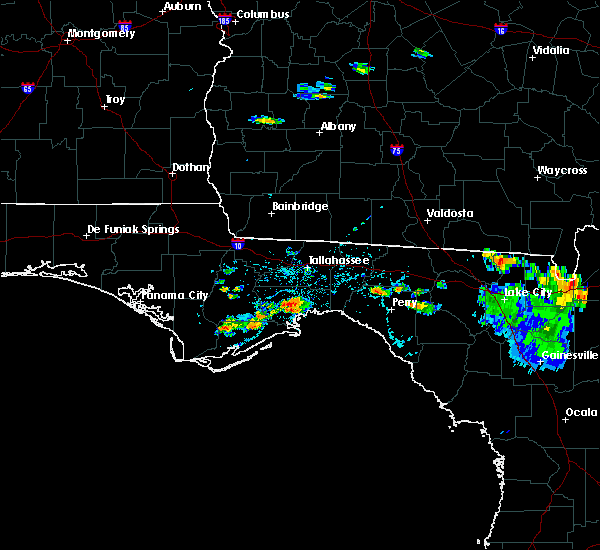 Radar Image for Severe Thunderstorms near Woodville, FL at 6/27/2020 5:07 PM EDT
