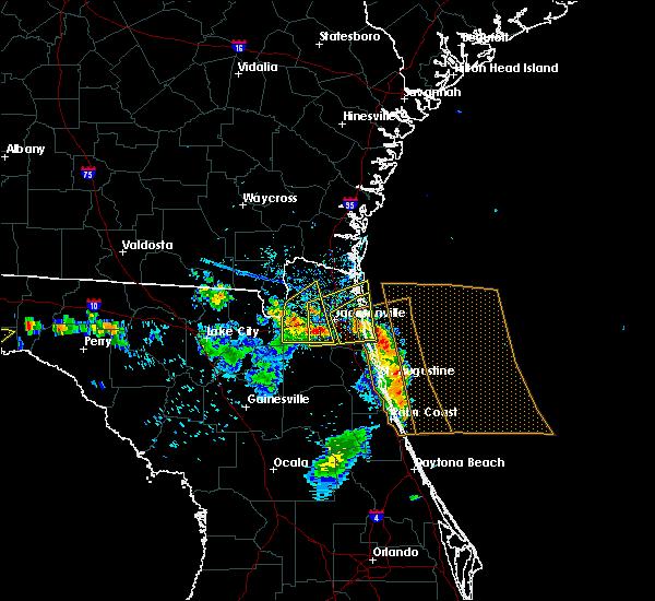 Radar Image for Severe Thunderstorms near Jacksonville, FL at 6/27/2020 5:28 PM EDT
