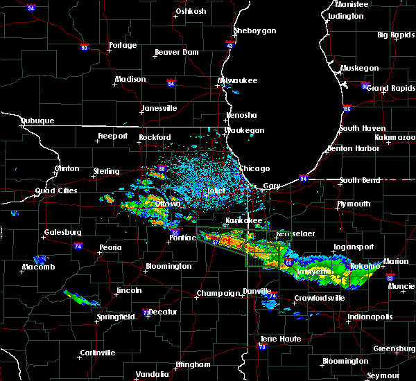 Radar Image for Severe Thunderstorms near Beaverville, IL at 6/27/2020 4:52 PM CDT