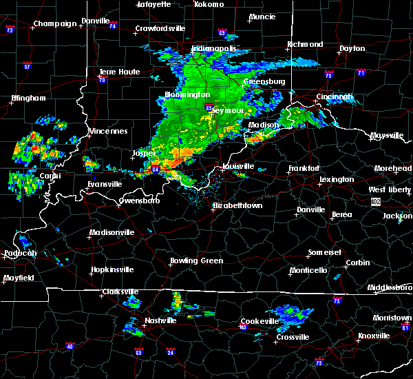 Radar Image for Severe Thunderstorms near New Middletown, IN at 6/27/2020 6:00 PM EDT