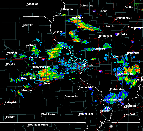 Radar Image for Severe Thunderstorms near Steelville, MO at 6/27/2020 5:05 PM CDT