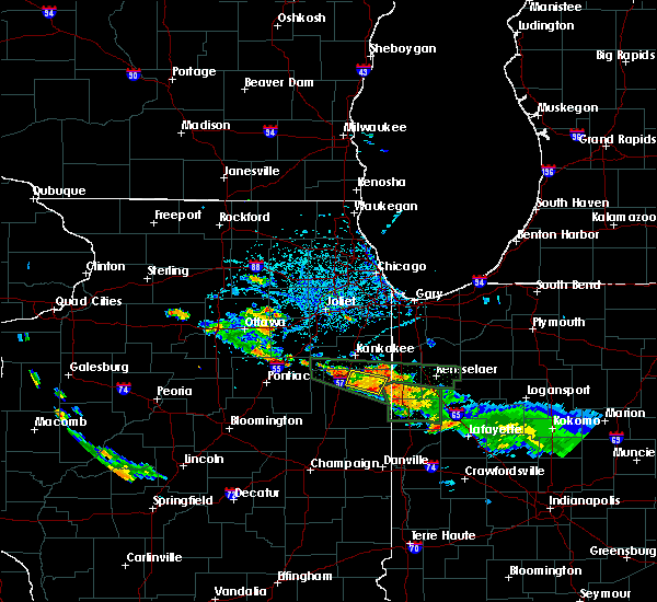 Radar Image for Severe Thunderstorms near Beaverville, IL at 6/27/2020 5:10 PM CDT