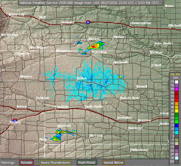 Radar Image for Severe Thunderstorms near Mission, SD at 6/27/2020 6:07 PM CDT
