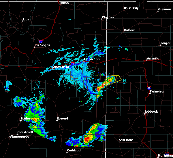 Radar Image for Severe Thunderstorms near Friona, TX at 6/27/2020 6:42 PM CDT