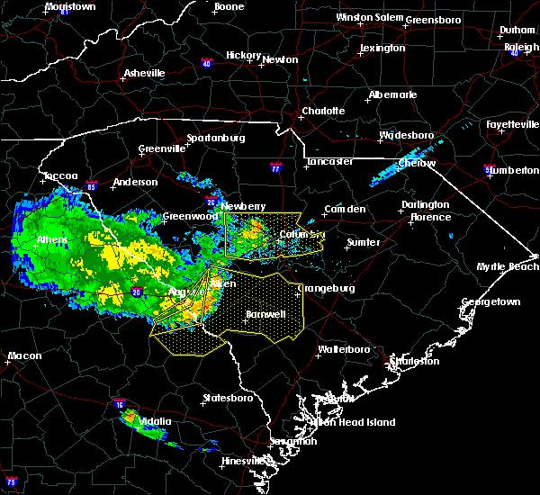 Radar Image for Severe Thunderstorms near Springdale, SC at 6/27/2020 7:54 PM EDT