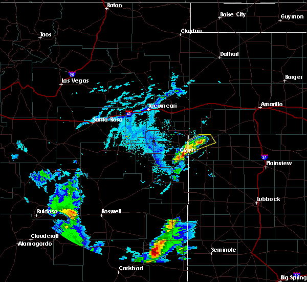 Radar Image for Severe Thunderstorms near Friona, TX at 6/27/2020 7:02 PM CDT