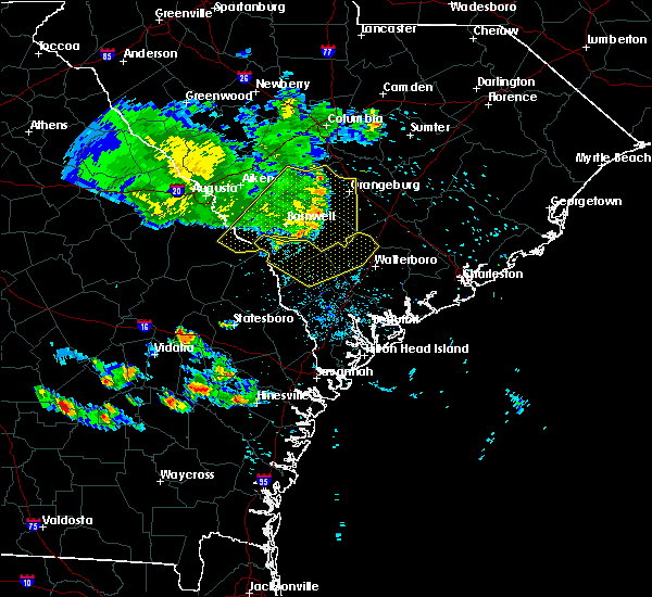 Radar Image for Severe Thunderstorms near Blackville, SC at 6/27/2020 8:34 PM EDT