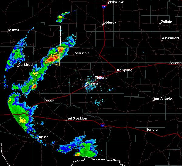 Radar Image for Severe Thunderstorms near Hobbs, NM at 6/27/2020 7:35 PM MDT