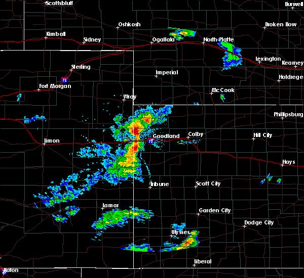 Radar Image for Severe Thunderstorms near Goodland, KS at 6/27/2020 7:54 PM MDT