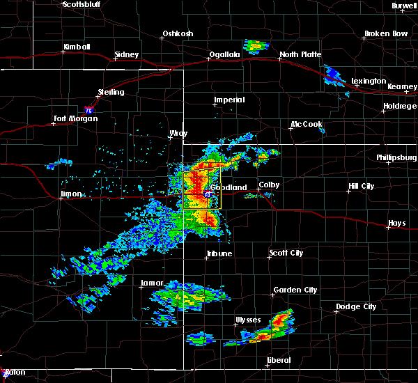 Radar Image for Severe Thunderstorms near Goodland, KS at 6/27/2020 8:17 PM MDT