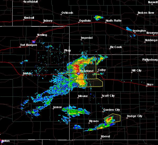 Radar Image for Severe Thunderstorms near Bird City, KS at 6/27/2020 8:31 PM MDT