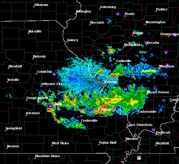 Radar Image for Severe Thunderstorms near Farmington, MO at 6/27/2020 9:32 PM CDT