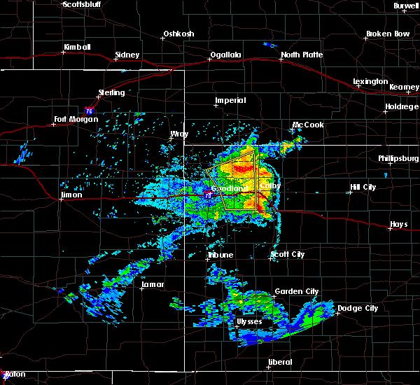 Radar Image for Severe Thunderstorms near Oberlin, KS at 6/27/2020 10:13 PM CDT