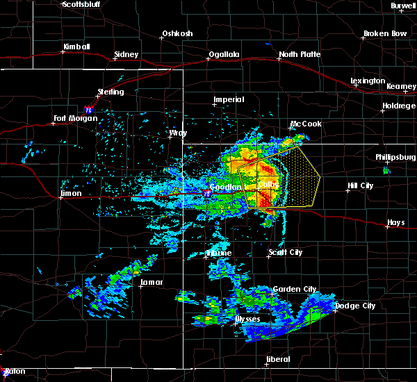 Radar Image for Severe Thunderstorms near Grainfield, KS at 6/27/2020 10:29 PM CDT