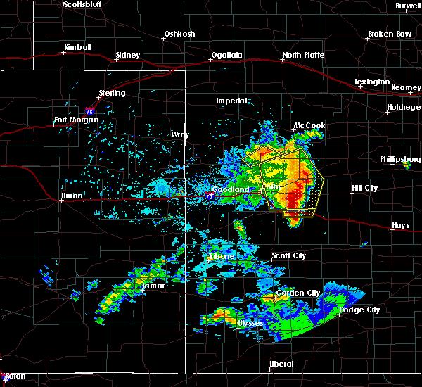 Radar Image for Severe Thunderstorms near Park, KS at 6/27/2020 10:54 PM CDT